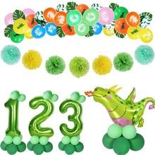 Dinosaurus Feestartikelen Ballonnen Zal Een Jongen Kids Birthday Party Supplies Gunsten Dinosaurus Decoraties Roar Dino Party Ballonnen
