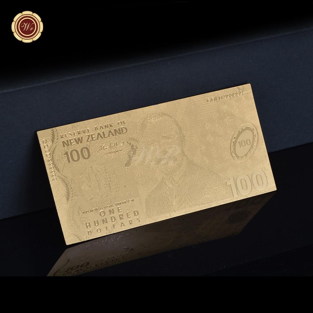 Wrフェイクマネー法案ニュージーランド 100 ドル小道具マネーゴールドメッキ紙幣nzd紙幣小さなギフトdropshiping
