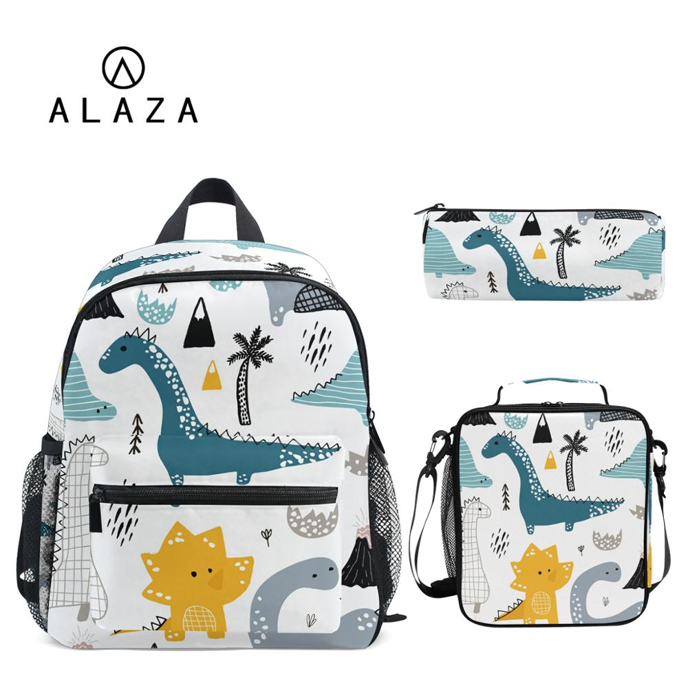 ALAZA 3pcs/set Small Kindergarten Backpack Children School Bags Kids Dinosaur print Schoolbag Baby T
