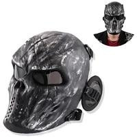 airsoft paintball masks anti fog pc lens protection skull mask outdoor hunting military war games tactical air gun shooting mask