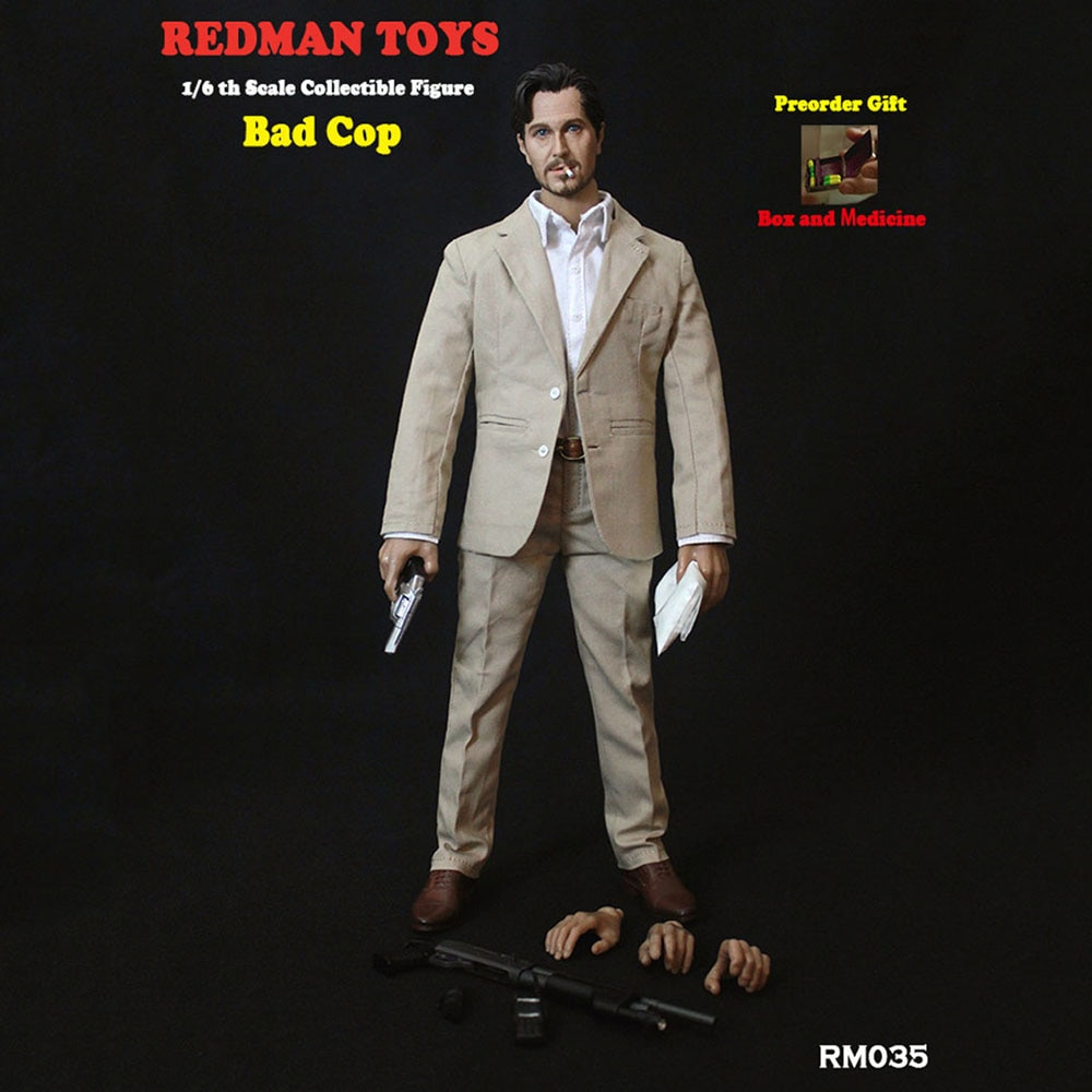 In Stock REDMAN TOYS RM035 1/6 Scale Collectible The Professional Bad Cop Villain Norman Stanfield Action Figure Model for Fans