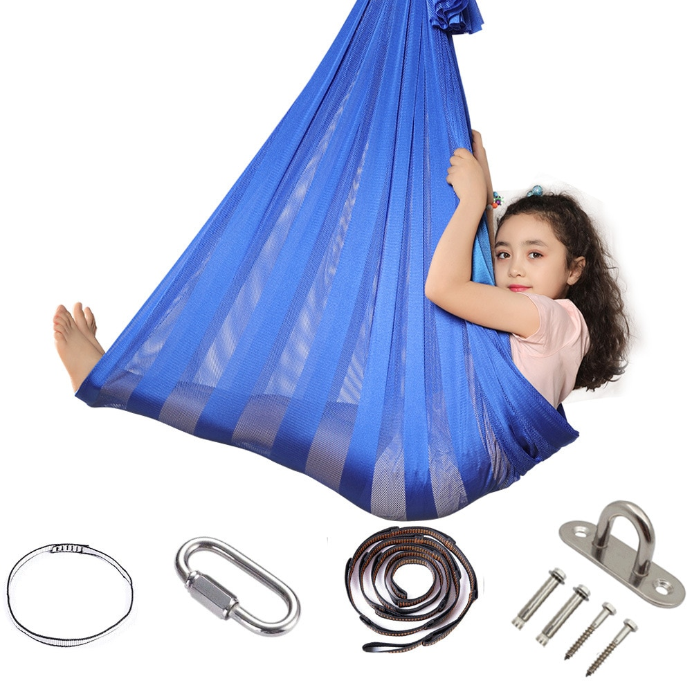 Amazon Explosive Breathable Indoor and Outdoor Children's Fitness Children's Swing Super Soft Mesh Outdoor Hammock Hanging Chair