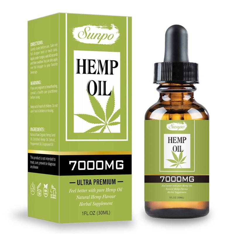 7000mg organic essential oil hemp seed oil herbal drops relieve stress CBD lubricant body skin care helps relieve anxiety недорого
