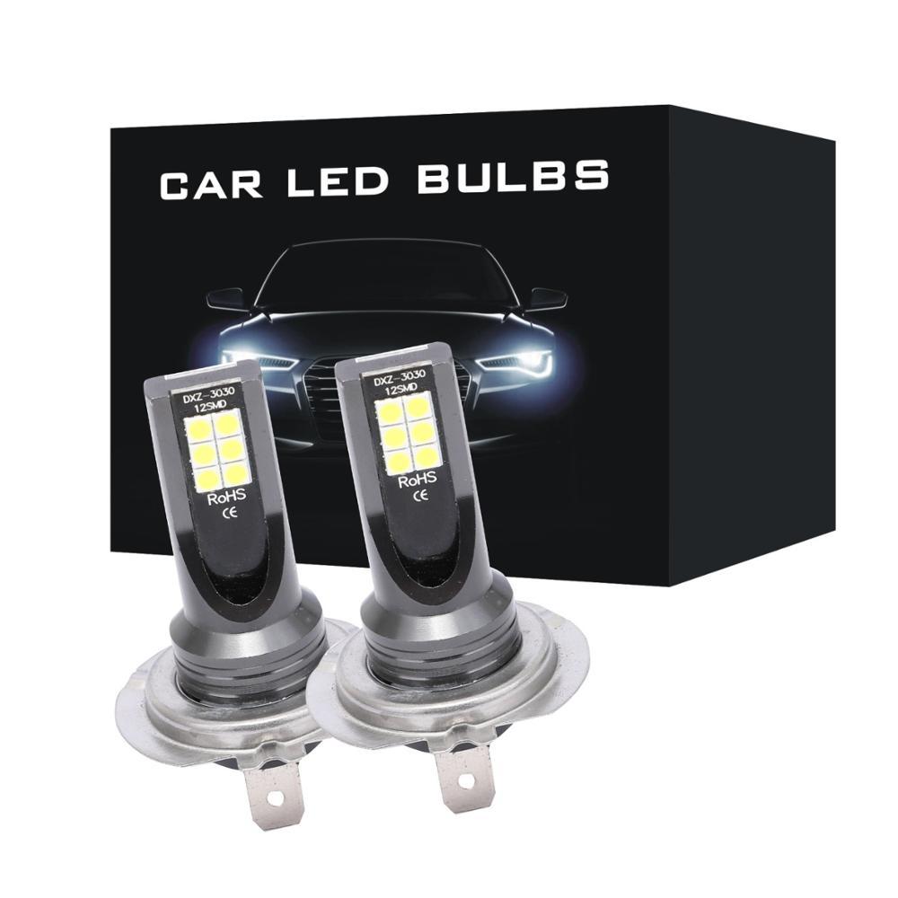 2 шт. 12 В CSP Автомобильные противотуманные фары 3030 чипы лампы H7 Led H4 Автомобильные фары H1 H3 H8 H11 9005 9006 автомобильное освещение фары