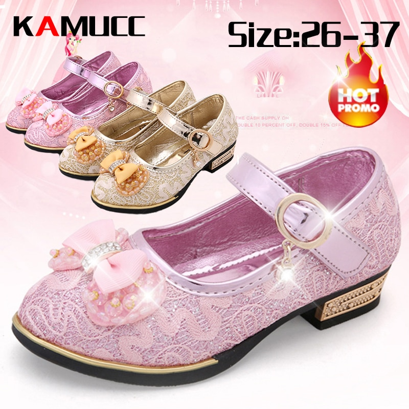 New Summer Girls Leather Shoes Children Girls Baby Princess Bowknot Slip-on Sneakers Pearl Diamond Single Shoes Kids Dance Shoes girls leather shoes children girls baby princess bowknot sneakers pearl diamond single shoes kids dance shoes newest autumn
