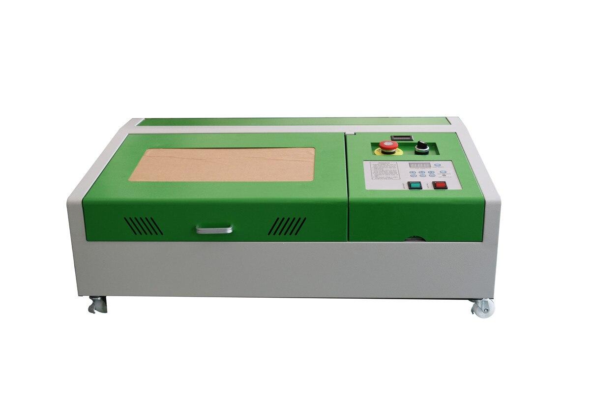Travail amélioré du bois de coupeur de découpeuse de gravure de Laser dusb de CO2 de 40W + 4 roues