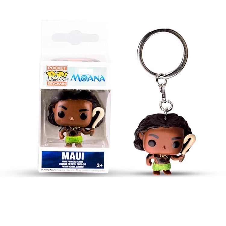 Funko POP llavero Moana Maui acción figuras muñeca de juguete con caja