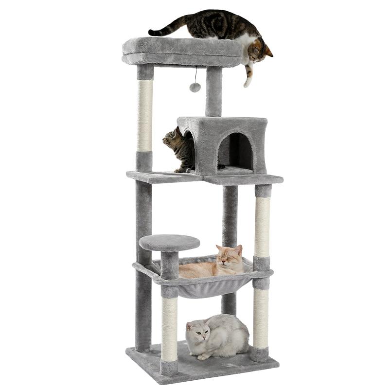 التسليم المحلي القط لعبة خدش الخشب تسلق شجرة القط القفز لعبة سلم تسلق الإطار القط الأثاث عمود خدش للقطط