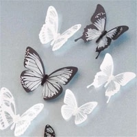 18 pieces 3d crystal butterfly wall stickers creative kids wall with room diamond home decor art decoration decals butterfl r1t0