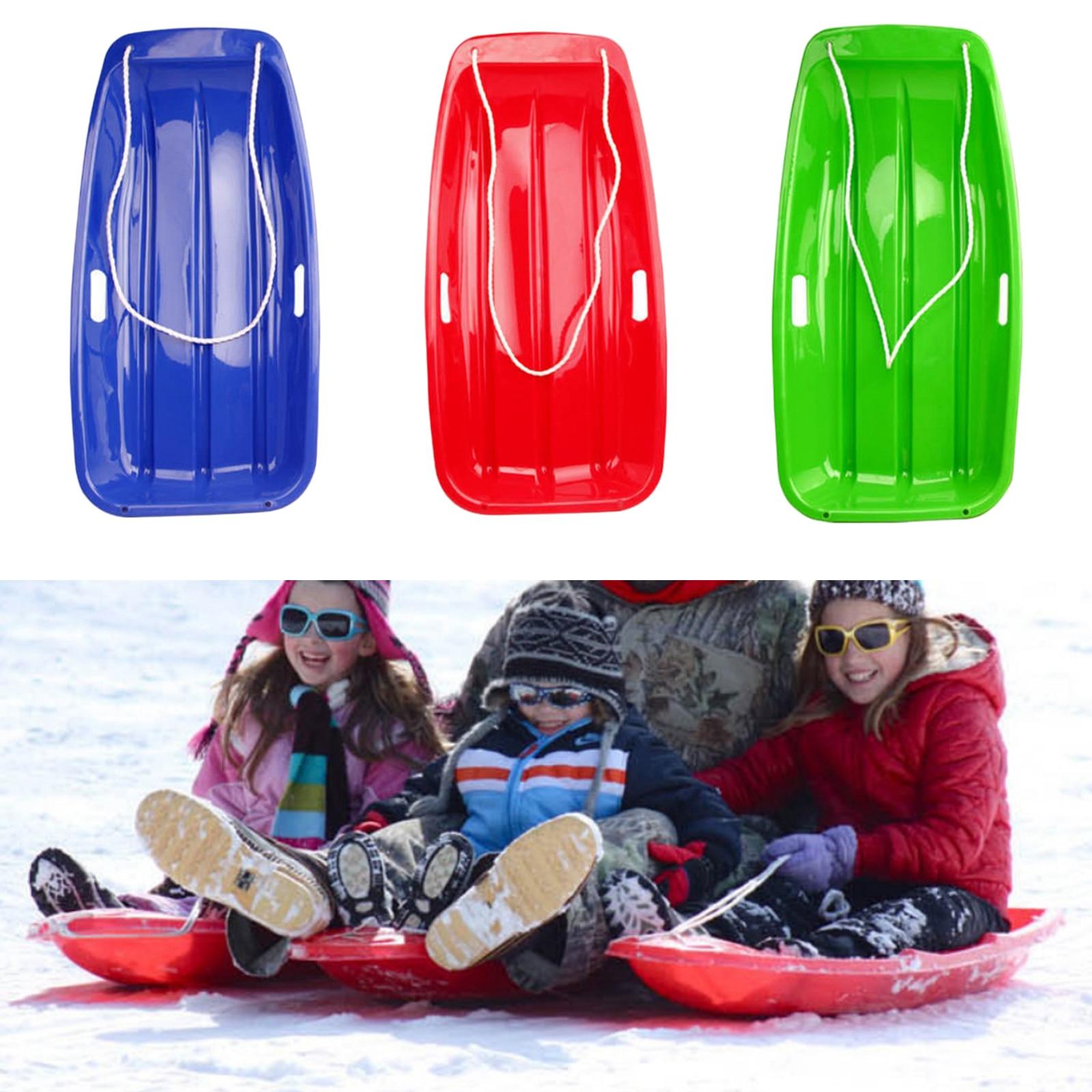 Спуск под горло, прочный ПЭ пластиковый снегоход, трава, лыжная доска, катание на коньках