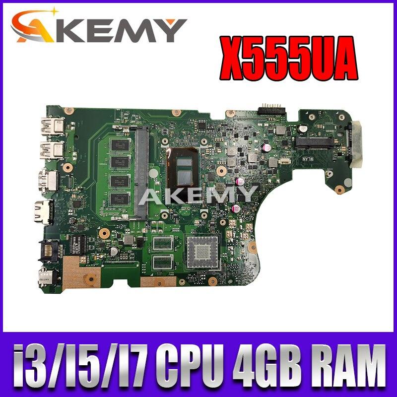 Akemy i3i5i7cpu ل For Asus X555U F555U X555UF X555UB X555UQ X555UA X555UJ اللوحة المحمول اللوحة الأم