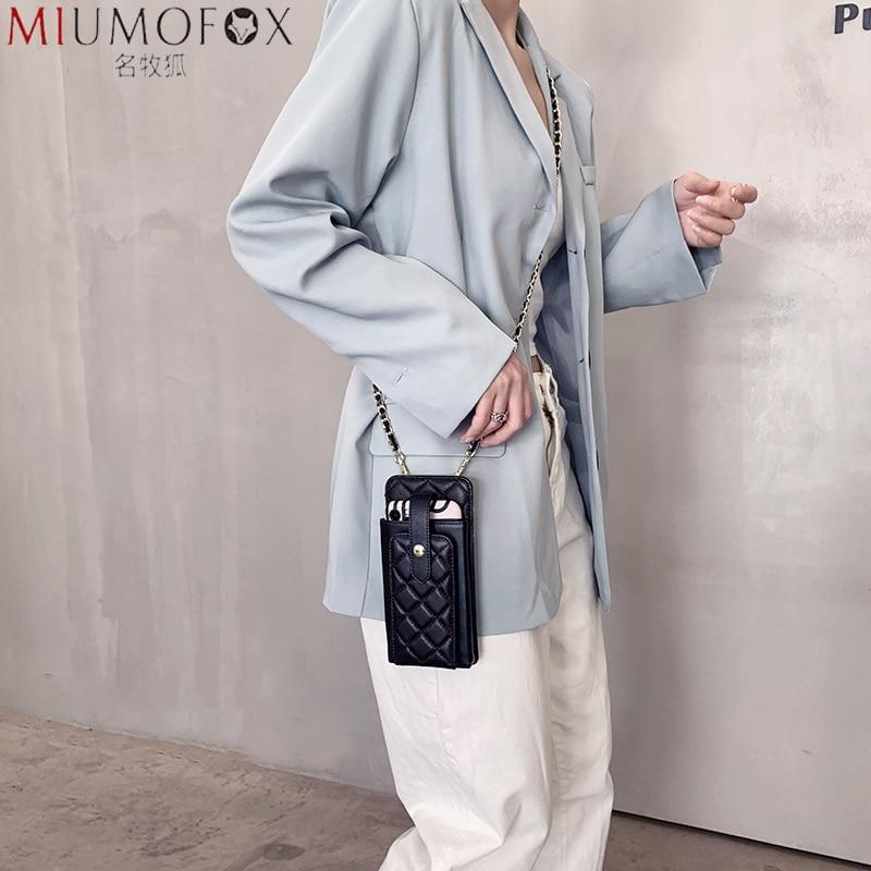 Women's Diagonal Cross Leather Sheepskin Bags 2020 New Small Mobile Phone Bag Mini Genuine Leather Brand Rhombus Shoulder Bag