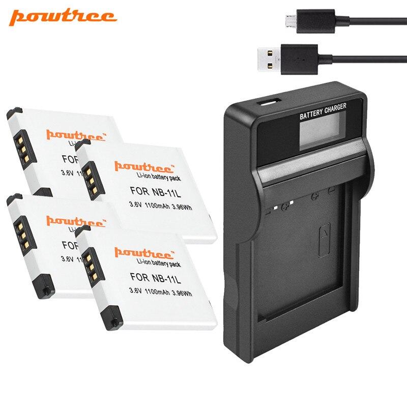 Powtree NB-11L NB11L NB 11L батарея + ЖК-зарядное устройство для Canon PowerShot SX410 SX400 IS ELPH 320 340 A2300 IS, A2400 IS, A2500, A2600
