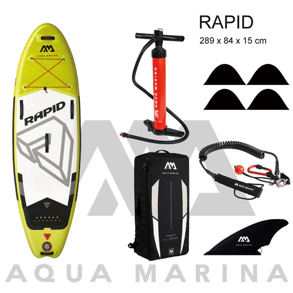 Aqua Marina rapid stand up paddle board sup surfing inflatable board water sport surf river stream 289 x 84 x 15cm