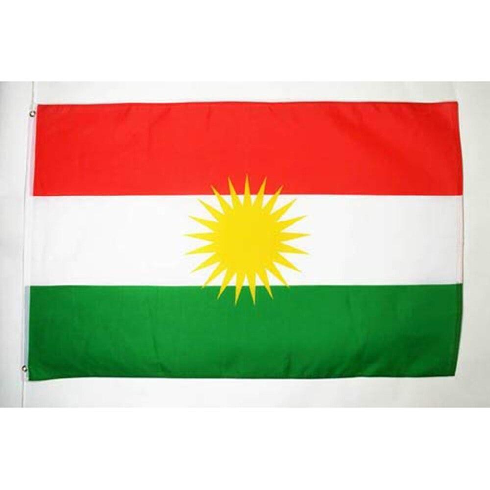 ¡Oferta! Bandera Kurdistán 3x5ft 150X90CM bandera 100D poliéster arandelas de bandera personalizada,