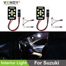 2 pièces LED panneau lumineux voiture intérieur dôme ampoule lampe pour Suzuki Swift Vitara SX4 Kizashi Jimny Grand Vitara samouraï mazda 3 2 cx5 6