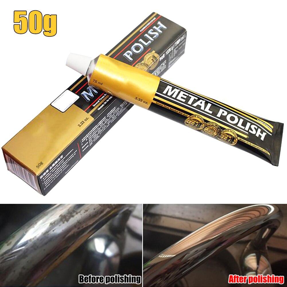Autosol metal scratch repair pasta de polimento de ferrugem de aço inoxidável cobre novo 50g/100g carros assistir espelho polimento pasta