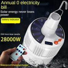Linterna de luz Led para acampada, linterna potente de jardín portátil con USB, Bombilla Solar recargable, iluminación de emergencia para exteriores, pesca