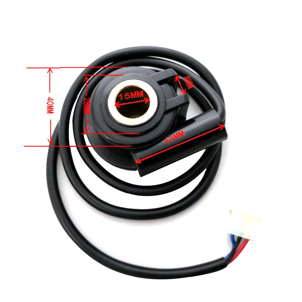 12V Black Digital Universal Motorcycle Odometer Sensor Wire Motorbike Speedometer Cable Box Accessor