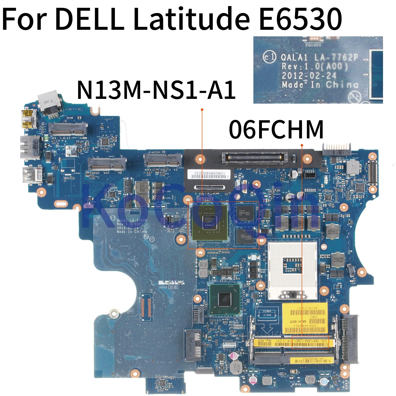 Kocoqin placa-mãe do portátil para dell latitude e6530 slj8a 5200 m 1g mainboard CN-06FCHM 06 fchm qala1 LA-7762P N13M-NS1-A1
