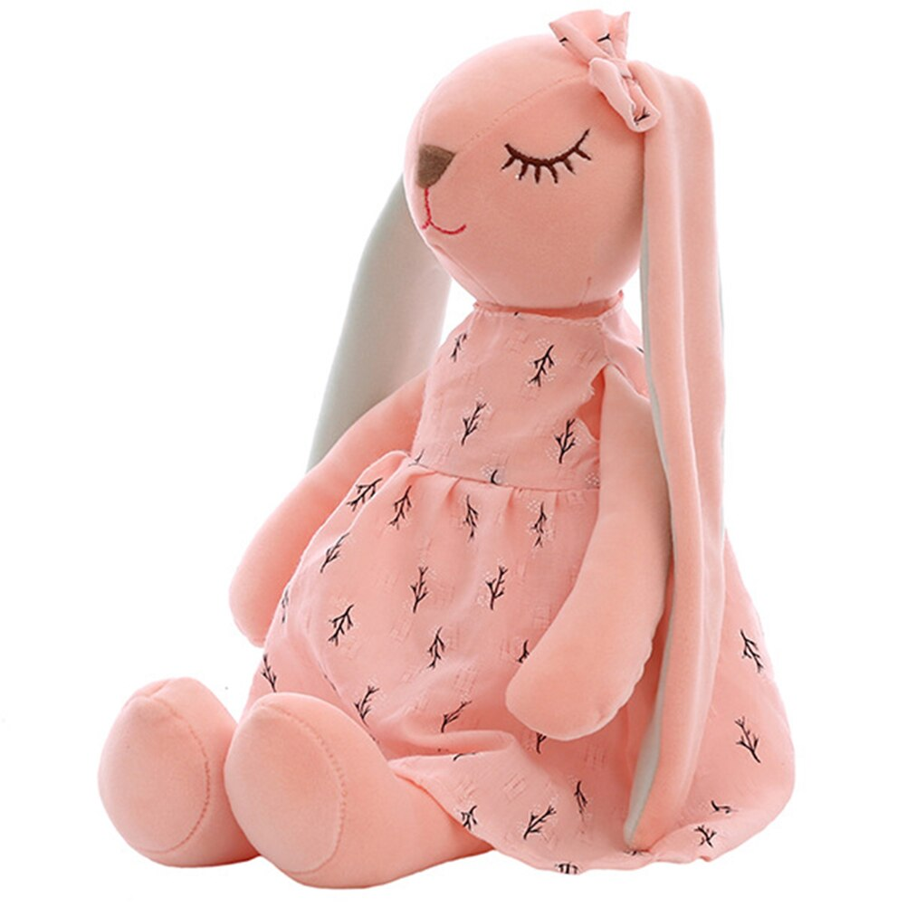 nice 1pc 35cm plush cat toys stuffed animal 35CM Cute Cartoon Long Ears Rabbit Doll Baby Soft Plush Toys For Children Rabbit Sleeping Mate Stuffed Plush Animal Toys Infants