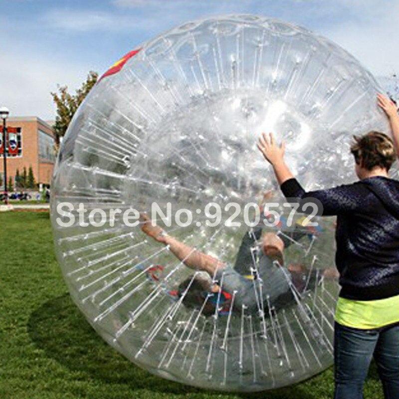 شحن مجاني 1.0 مللي متر TPU نفخ الجسم زورب الكرة ، 3m القطر سعر جيد نفخ الإنسان البولينج لاستئجار التجارية