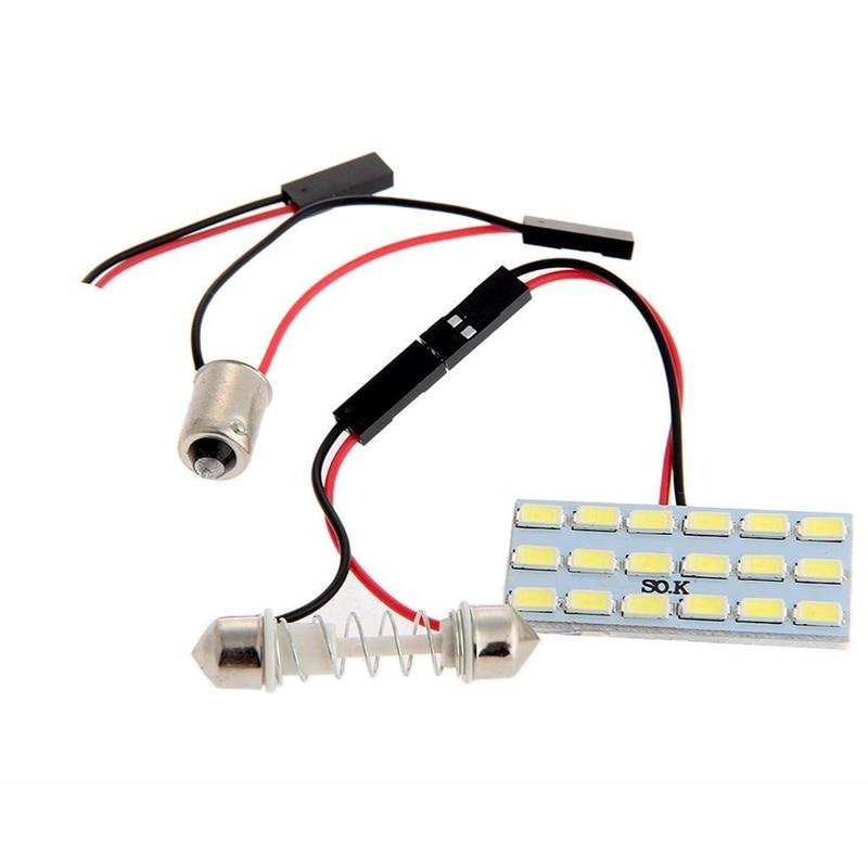 Panel de luz Interior LED para coche 18 5630 SMD + plafón...