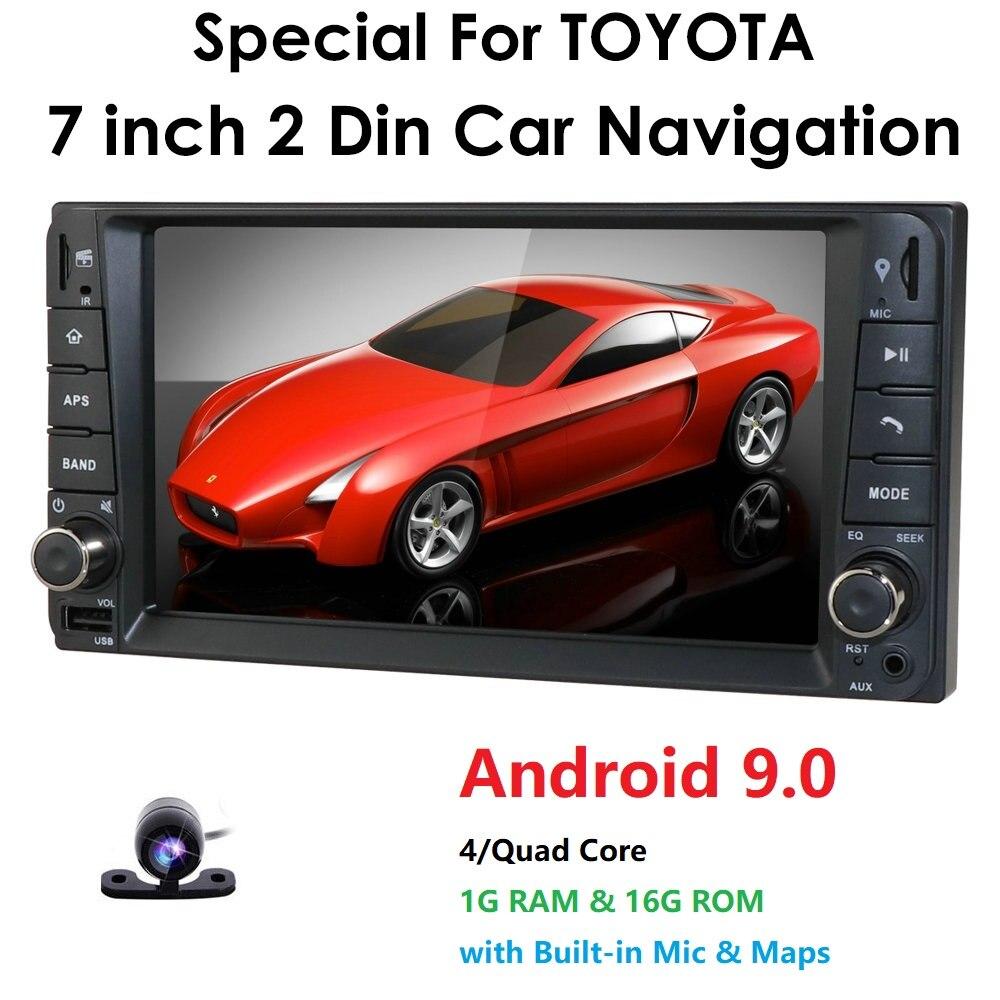 2G RAM Android RDS Multimedia Car DVD Player GPS For Toyota Universal RAV4 Corolla Vios Terios Land Cruiser 100 Yaris BT SWC ECT