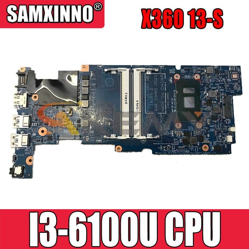 828606-601 828606-501 ل HP X360 13-S I3-6100U دفتر اللوحة 14265-2 448.05H03.0021 SR2EU DDR3 اللوحة