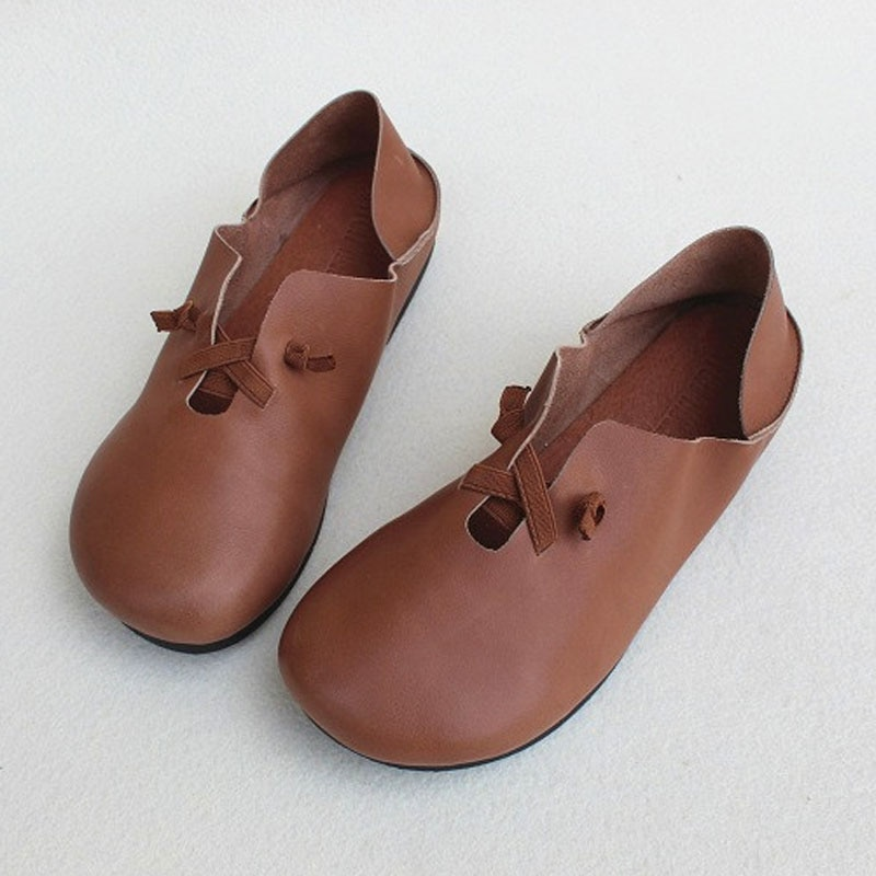 Women Shoe Slip on Ballet Flats 2020 Spring Women Ballerina Shoes 100% Geuine Leather Ladies Flat Shoes mary jane flats