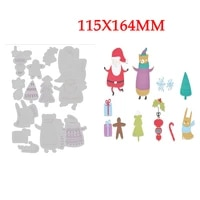 2021 new arrived christmas santa metal cutting dies for diy edge embossing cut paper card scrapbooking no stamps
