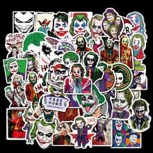 50pcs/set Waterproof Cool Movie The Joker Stickers Skateboard Suitcase Guitar Motorcycle Funny GraffitiF DIY Sticker Kids Toys