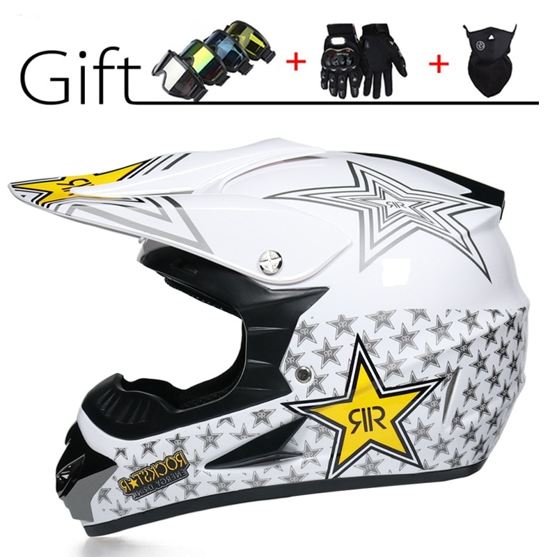 Nuevo accesorios Moto Motocross MTB Casco estrella Capacete Moto Casco Dot de...