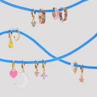 top quality women fashion cz small hoop earrings elegant statement gold color copper huggie earring for girls wedding jewelry