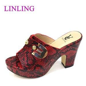 Женские летние тапочки хорошего качества для женщин, свадебные туфли-лодочки, женские тапочки в нигерийском стиле, сандалии на высоком каблуке