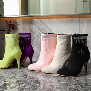YIHONGMEIQIFashion fall 2020, women's boots, peak boots, autumn and winter high heels, women's, boots