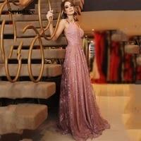 sevintage spaghetti straps lace long prom dress robe soiree v neck backless formal evening gowns vestido de fiesta largos
