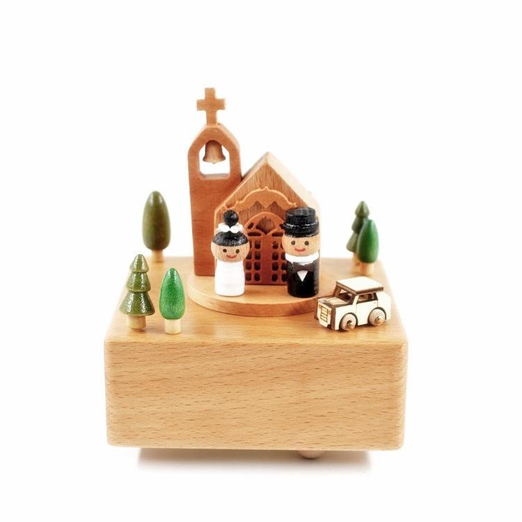 Деревянная музыкальная шкатулка, музыкальная шкатулка, подарок на Новый год, День Святого Валентина, подарок на день рождения, свадебная му...
