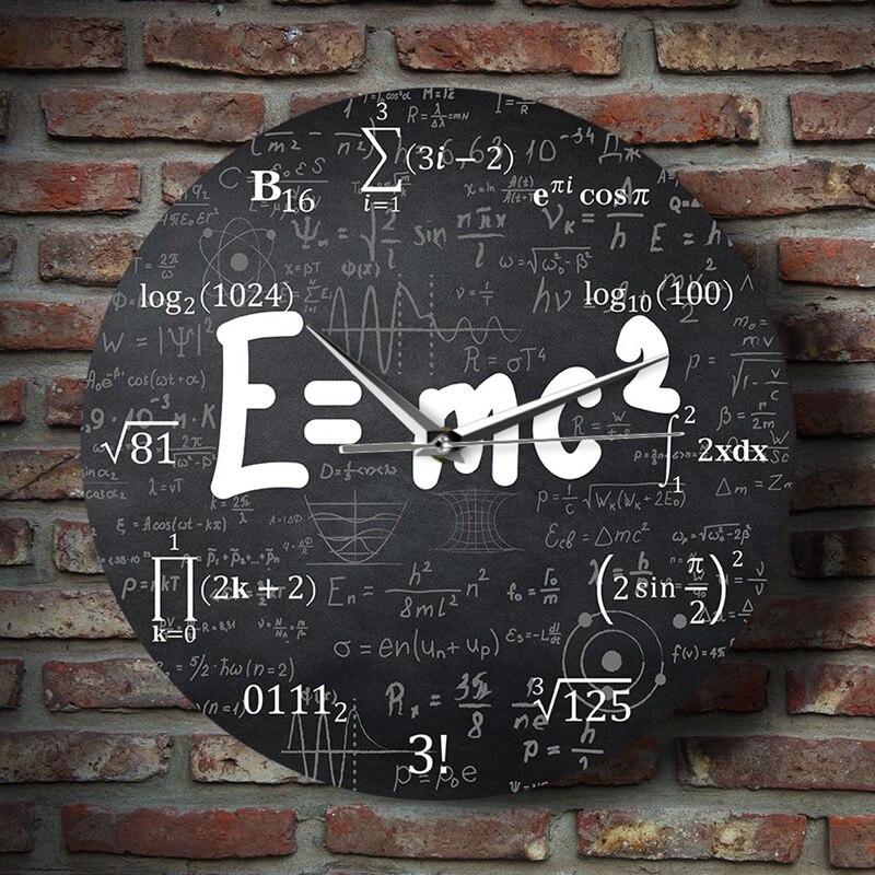 SZS Hot Theory of Relativity, reloj de pared con fórmula de matemáticas, regalo de profesor de física, decoración escolar para el aula