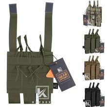 Pochette Triple modulaire tactique KRYDEX pour MP5 MP7 KRISS MOLLE Triple porte-pochette magnétique SMG pour la chasse Airsoft
