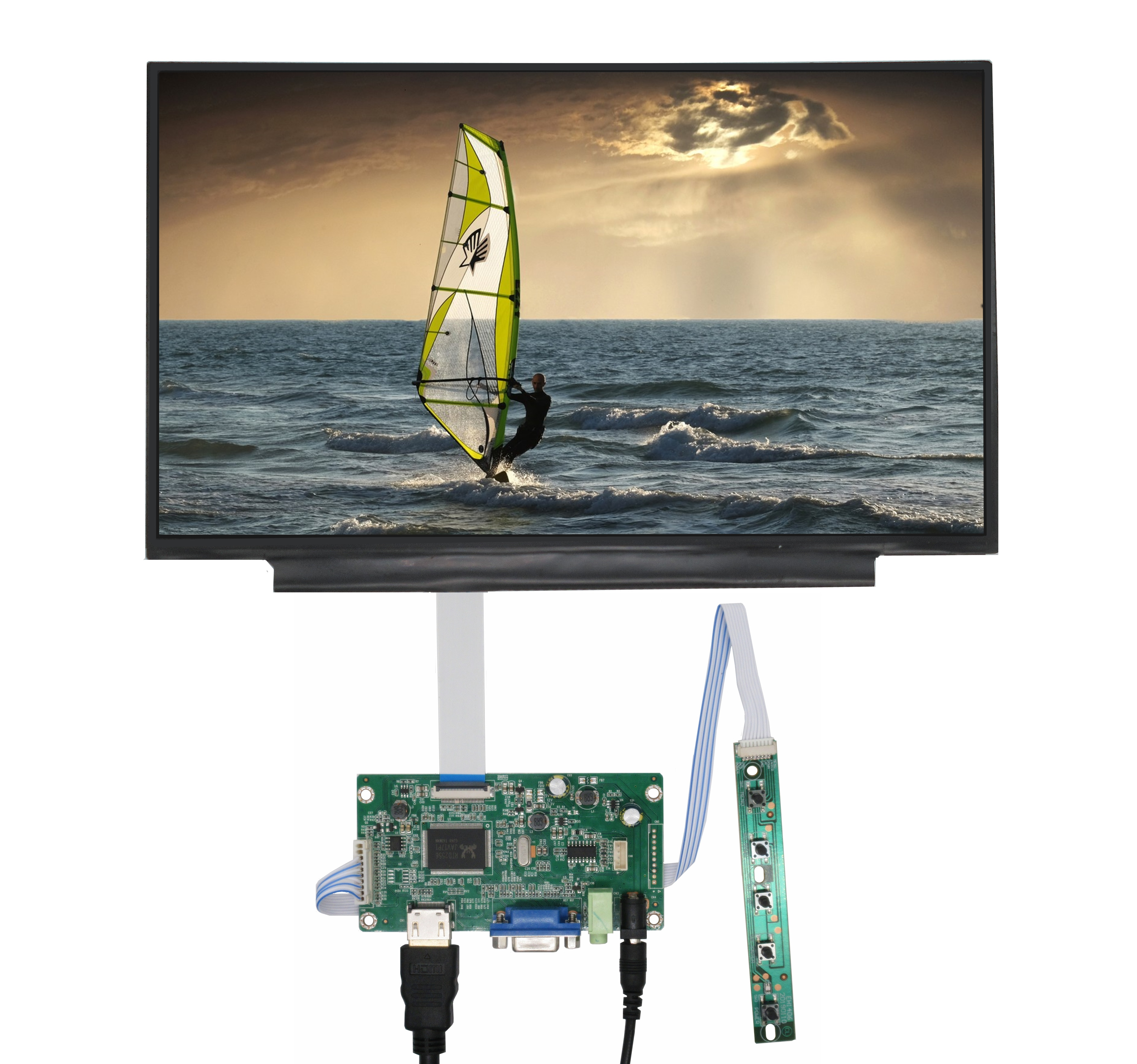 11.6Inches Screen Display Monitor With Driver Control Board Audio VGA HDMI-Compatible for Computer O