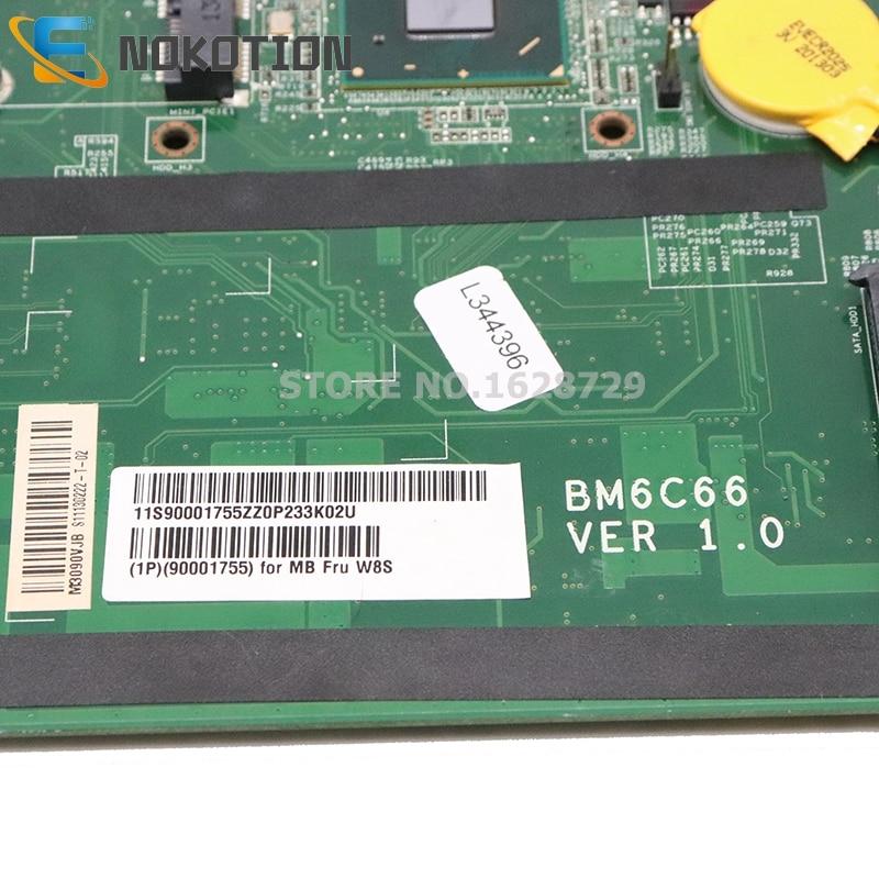 NOKOTION BM6C66 90001755 For Lenovo Q190 Laptop Motherboard HM70 Celeron 887 CPU BM6C66 CIHM76S VER 1.0 MB 10