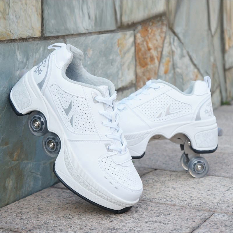 Roller Skate Shoes for Kids Boys Girls Wheels Sneakers with On Double Wheels Children Boy Girl Rolle