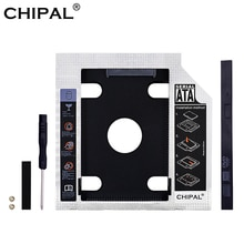 "CHIPAL 2020 aluminium plastique 9.5/12.7mm SATA 3.0 2.5 ""universel HDD Caddy boîtier adaptateur DVD HDD boîte dure pour CD Optibay"