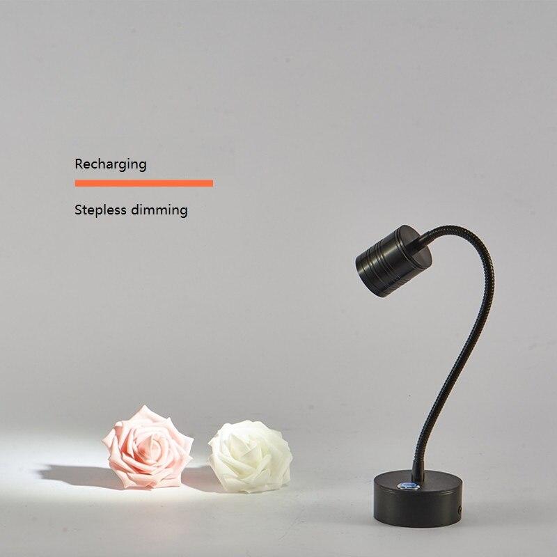مصباح سبوت قابل لإعادة الشحن للخزانة ، أنبوب مرن قابل للتعتيم 3 وات ، عرض الحالة ، المجوهرات ، مشاهدة الأسلاك ، إضاءة البطارية