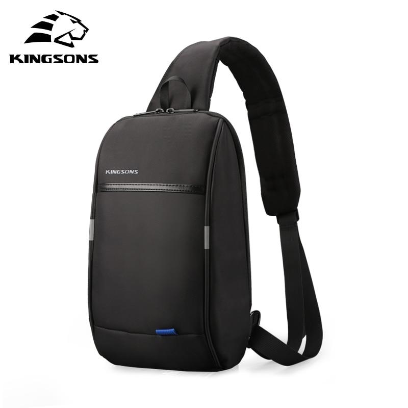 Kingsons-حقيبة ظهر صغيرة بحزام واحد للرجال ، حقيبة ظهر صغيرة بحزام كتف واحد ، حقيبة سفر للترفيه ، مع شحن USB ، 10.1 بوصة