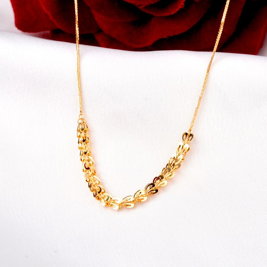XF800 ريال 18K الذهب غرامة مجوهرات قلادة نقية Au750 شوبان فينيكس الذيل سلسلة للنساء هدية الزفاف N570