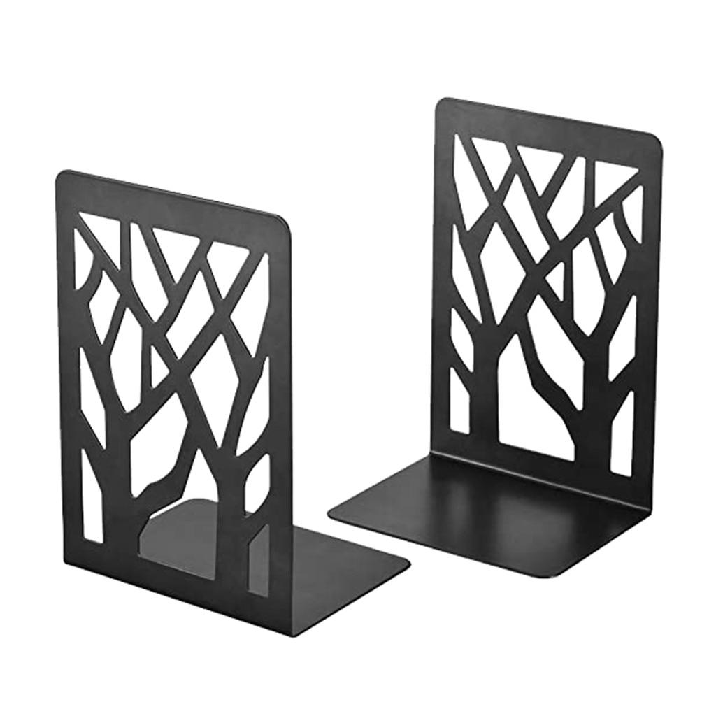 # Sujetalibros antideslizante de Metal negro, tope de libro pesado para oficina, tapa antideslizante para sujetalibros, tapa de libro para oficina