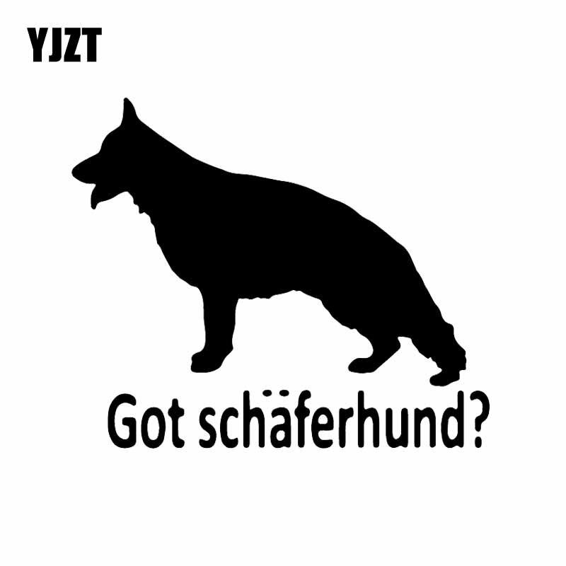 Yjzt 14.5x12.2cm tem schäferhund? Cão pastor alemão vinil decalque carro adesivo preto/prata C24-1352