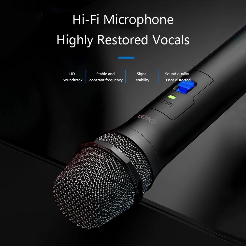 Jogo de karaoke microfone sem fio alto-falante de alta fidelidade mic para sony ps5/ps4/ps3/xbox um/wii u/nintendo interruptor jogo console acessórios